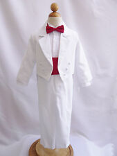 Boy toddler teen white communion tuxedo formal suit wedding party ring bearer