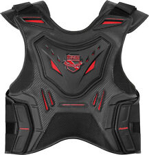 NEW ICON MENS BLACK RED STRYKER FIELD ARMOR MOTORCYCLE VEST EXTERNAL PLATING