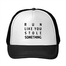 Run Like You Stole Something Funny Adjustable Trucker Hat Cap
