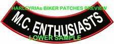 CUSTOM/MADE TO ORDER (BLOCK FONT) LOWER ROCKER ONLY   .... BIKER PATCH