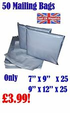 MIXED SIZES SETS Grey Postage/Poly/Postal Mailing Bags/Sacks/Envelopes Self Seal
