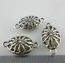 4/8/70pcs Tibetan Silver Hollow Oval Connectors Bails Charms Jewelry 8x13x24mm