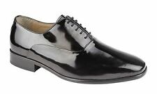 Leather Mens Black Patent Oxford Lace up Wedding uniform Dress shoe UK 6-12