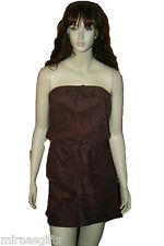 WOMENS BROWN BLACK TERRY TUBE TOP SHORT ROMPER  SIZES   PLUS SIZE  1X