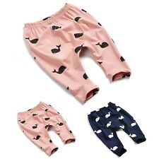 Baby Unisex Trouser Bottoms Kids Boy Girl Legging Cotton Long Pants Outfit AS