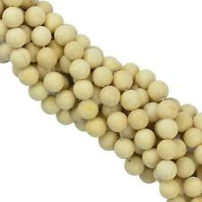 15 Inch Matte Frost Coral Fossil Round Loose Beads Strand