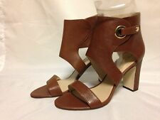 Via Spiga Adra Ankle Sandal 8.5/9 M Russet Leather MISMATES New w/ Defect
