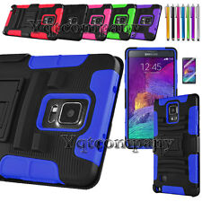 New Hard Case + Belt Clip Holster + Screen Protector For Samsung Galaxy Note 4