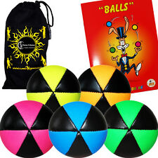 ASTRIX PRO THUD JUGGLING BALLS - 5 Juggling Balls + Instructional Booklet + Bag