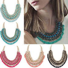 Jewelry Chunky Choker Pendant Chain NEW Necklace Crystal Statement Women Bib