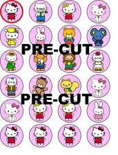 HELLO KITTY V3 EDIBLE WAFER PAPER TOPPERS CUPCAKE CAKEPOP CAKE FAIRY BUNS MUFFIN