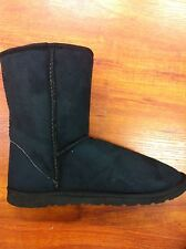 LAST PAIRS MENS UGG BOOTS PULL ON SHORT LEG BLACK SUEDE UPPER SYNTHETIC LINING