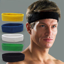 Fashion Unisex Cotton Sport Sweat Sweatband Headband Yoga Stretch Head Band Hair