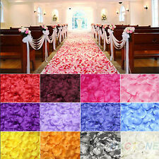 200/1000pcs Various Colors Silk Flower Rose Petals Wedding Party Decoration  tzz