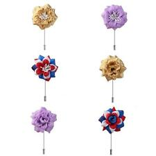 Chinese Peony Lapel Pin Stick BOUTONNIERE Wedding Party CORSAGE Mens Decor Gift