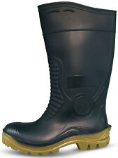 Traxium Green Mens Heavy Duty Safety Gumboots - Brand New