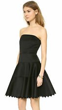 Milly Lasercut Strapless Dress Black Womens 2 6 NWT $395
