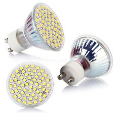 220V NEW 6500K White 3528 SMD Lamp Bulb GU10 60 LED 5W High Power Spot Light