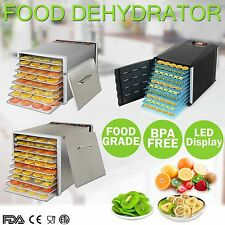 NEW Commercial 8 10 Trays Food Dehydrator Fruit Dryer Beef Jerky Maker Preserve