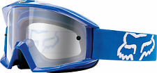 NEW FOX RACING MAIN OFFROAD MOTOCROSS MX ADULT GOGGLES BLUE/CLEAR