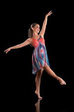 IN STOCK Contemporary Lyrical Dress Blue Orange Dance Costume Vision