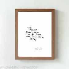 Oscar Wilde author quote hand drawn/written art, original (not print) typography