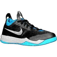 Nike Zoom Crusader - Men's Basketball Shoes (BK/Vivid BL/Metallic Silver Width: