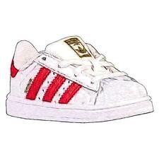 adidas Originals Superstar - Boys' Toddler Basketball Shoes (WT/Scarlet/WT)