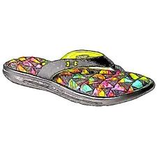 Under Armour Marbella V Thong - Girls' Preschool Casual Shoes (BK/Exotic Bloom/