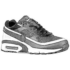 Nike Air Max BW - Boys' Primary School Running Shoes (Black/White)