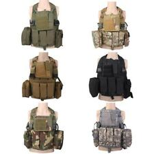 TACTICAL MILITARY AIRSOFT PAINTBALL COMBAT ASSAULT MOLLE HUNTING CARRIER VEST