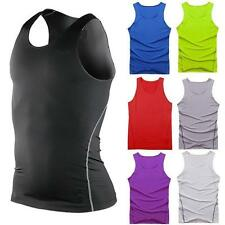 Mens Sports Vest Compression Tight Thermal Base Layers Tops Under Tank T-Shirts