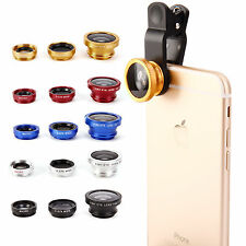3in1 Fisheye + Wide Angle + Macro Camera Selife Lens For iPhone 6 4.7""