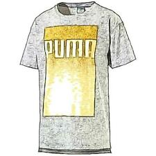 PUMA EVO Longer Line Logo Casual T-Shirt - Men's (Medium Grey Heather)