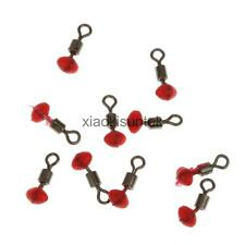10x Fishing Pulley Rig Beads Rollering Swivels Line Rigs Fishing Terminal Tackle