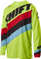 Shift Racing Flo Yellow/Red/Black White Label Tarmac Dirt Bike Jersey MX ATV