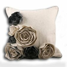 Scottish themed Kintyre natural 3d florals cushion cover, 45cm
