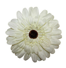 New Girls Realistic Jumbo Gerber Daisy Flower Hair Bow Alligator Clip Brooch USA