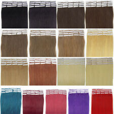 20inch 50g PU Tape In Remy AAA Straight 100% Human Hair Extensions 20pcs