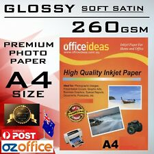 A4 High Glossy Photo Paper Resin Coated SOFT SATIN 260GSM