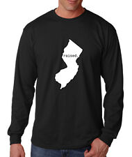NEW JERSEY RAISED Cotton Long Sleeve T-Shirt Tee Top