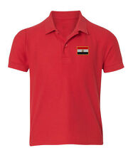 Egypt Flag Embroidered Kid Children Youth Polo Shirt/XS-XL Youth Size