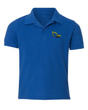 Dirt Excavator  Embroidered Kid Children Youth Polo Shirt/XS-XL Youth Size