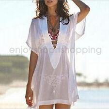 Women Sexy Plunge See Through Chiffon Cover Up Dress Sheer Cover-Ups Swimwear