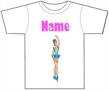 PERSONALISED BALLERINA BALLET T-SHIRT PRINTED WITH ANY CHILDS NAME GIRLS/BOYS