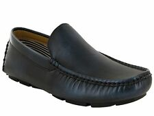 MENS NAVY CASUAL FORMAL OFFICE SMART SLIP ON LOAFERS DRESS SHOES UK SIZE 6-11
