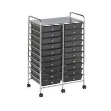 NEW Rolling Storage Organization 20 Shelves Plastic Drawers Wheeled Craft Cart