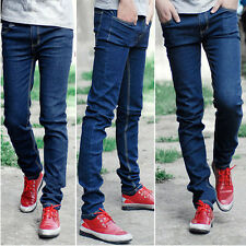 Hot Fashion Mens Skinny Straight Leg Pants Slim Fit Casual Jeans Slacks Trousers