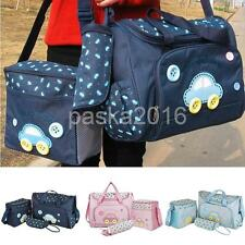 4PCS/Sets Large Baby Nappy Bags Diaper Changing Bag Maternity Mummy Tote Handbag