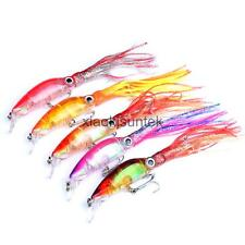 1Pcs Soft Plastic Squid Lure Multicolor Fishing Lures with Hook